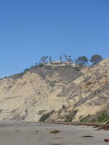 Blacks Beach CA Mansion on Cliff