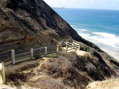 Blacks Beach Trail from Torrey Pines Gliderport to Blacks Beach