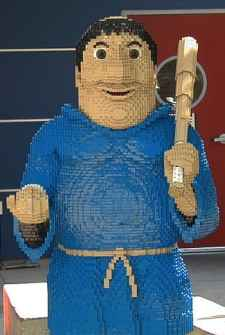 San Diego Padres Mascot Swinging Friar Legoland CA