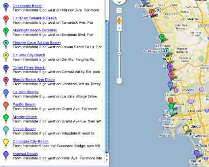 San Diego Beaches Map Best Beach in San Diego