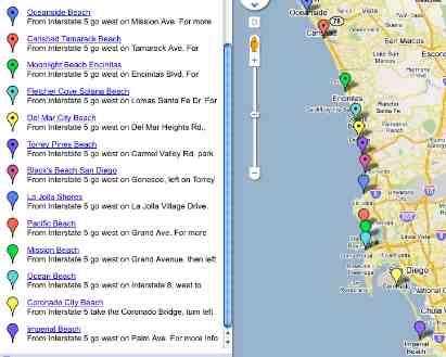 San Diego Beaches Map
